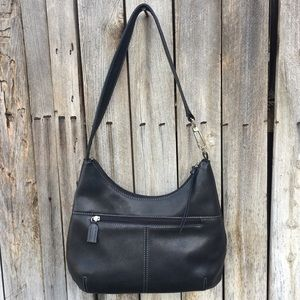 Tignanello Medium Hobo Bag Leather Black